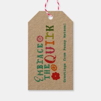 Embrassez les étiquettes de cadeau de caprice