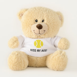 Embrassez ma mascotte drôle d'ours de nounours de