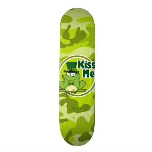 Embrassez-moi ; camo vert clair, camouflage skateboard