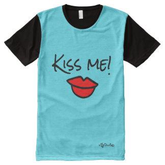 Embrassez-moi ! CHEMISE BLEUE LUMINEUSE de CIEL T-shirt Tout Imprimé