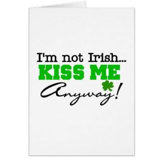 Embrassez-moi de toute façon T-shirts et cadeaux Carte De Vœux