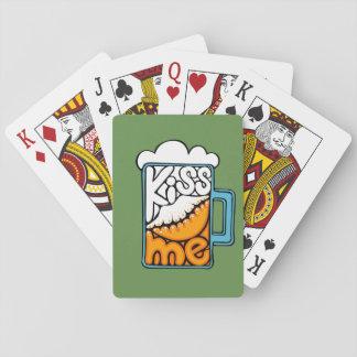 embrassez-moi - icône de bière jeu de cartes