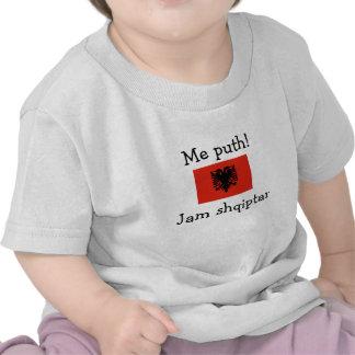 Embrassez-moi Je suis albanais le garçon T-shirt