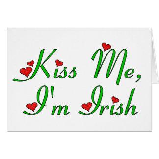 Embrassez-moi, je suis irlandais carte de vœux