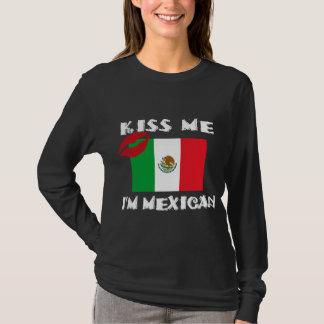 Embrassez-moi que je suis mexicain t-shirt
