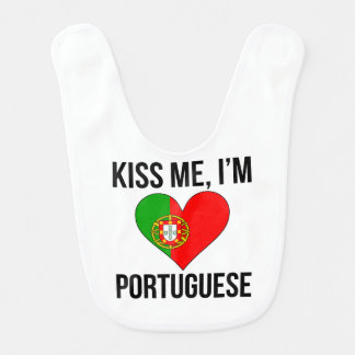 Embrassez-moi que je suis portugais bavoirs pour bébé