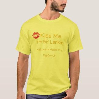 Embrassez-moi que je suis sri-lankais t-shirt