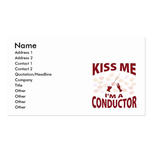 Embrassez-moi que je suis un chef d'orchestre carte de visite