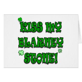 Embrassez mon habillement et cadeaux irlandais de carte de vœux