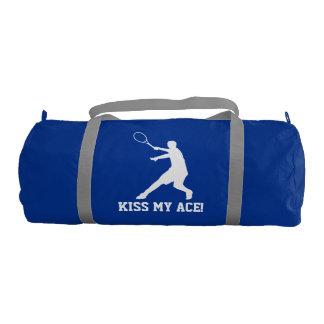 Embrassez mon sac fait sur commande de tennis d'as