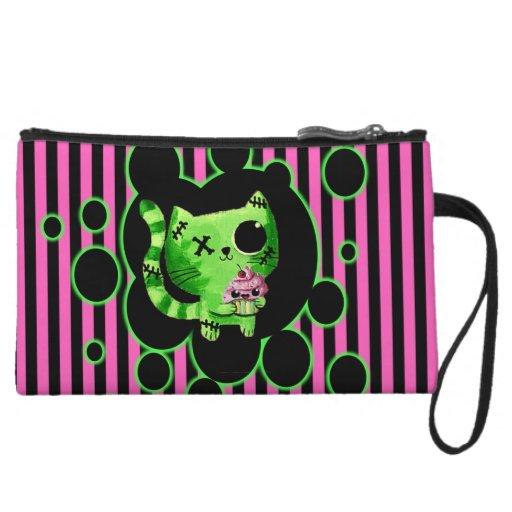 Embrayage de Kitty de zombi mini Pochettes Avec Anse