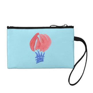 Embrayage de pièce de monnaie de clé de ballon à portefeuilles
