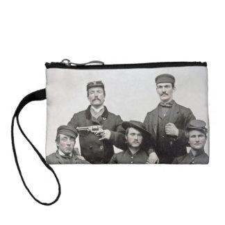 Embrayage de pièce de monnaie de soldats de guerre bourses