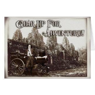 Embrayez pour la carte de voeux d'aventure