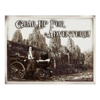 Embrayez pour la carte postale d'aventure