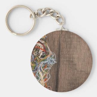 embroiderythreads de travaux d'aiguille porte-clé rond