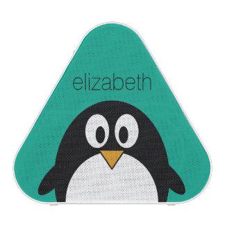 émeraude mignonne et noir de pingouin de bande haut-parleur bluetooth