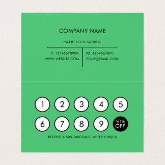 Émeraude minimaliste moderne de fidélité carte de visite