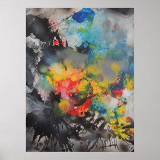 Émergence de couleur poster