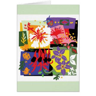 Émeute de couleur - carte de voeux florale