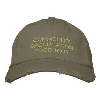 émeute de nourriture de spéculation des produits casquette brodée