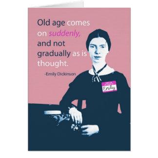 Emily Dickinson a retardé la carte d'anniversaire