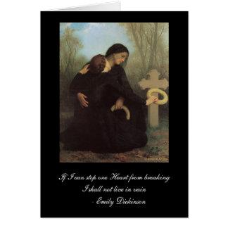 Emily Dickinson - carte de sympathie de William