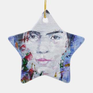 Emily dickinson - huile portrait.1 ornement étoile en céramique