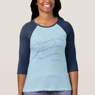 Emily Dickinson - j'ouvre chaque T-shirt de bleu