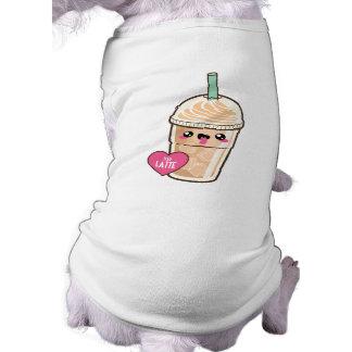 Emoji a glacé Latte T-shirt Pour Chien
