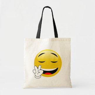 Emoji avec des mains de signe de paix tote bag
