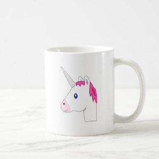 Emoji de licorne mug blanc