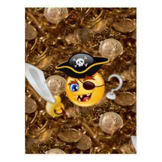 emoji de pirate de trésor cartes postales