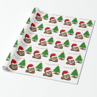 emoji de poo de Noël Papier Cadeau