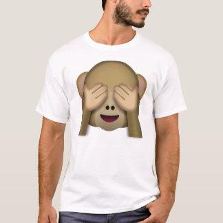 Emoji de singe de Voir-Aucun-Mal T-shirt