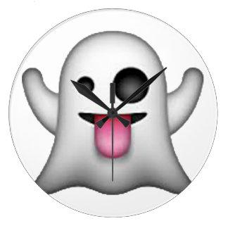 Emoji - fantôme grande horloge ronde