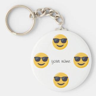 """Emoji font face et '' votre nom ici """" porte-clés"""