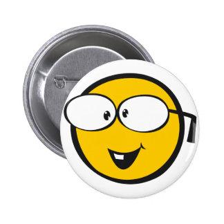 Emoji nerd badge rond 5 cm