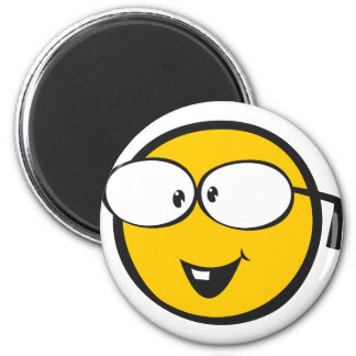 Emoji nerd magnet rond 8 cm