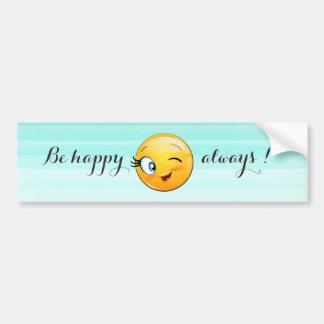Emoji souriant clignotant adorable Visage-Est Autocollant De Voiture
