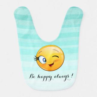 Emoji souriant clignotant adorable Visage-Est Bavoir