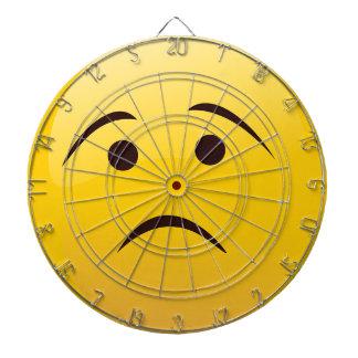 Emoji triste cible de fléchettes