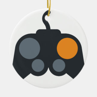 Emoji Twitter - Video Games controller Ornement Rond En Céramique