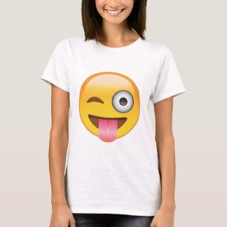 Emoji - visage souriant avec la langue t-shirt
