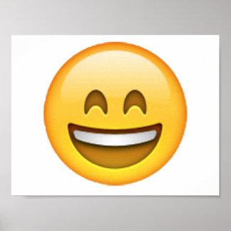 Emoji - yeux fermés de sourire posters