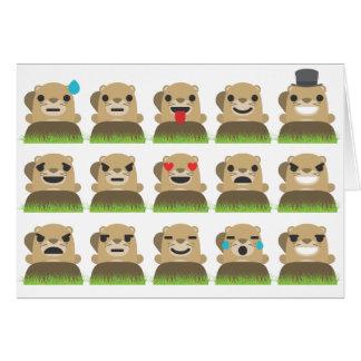 emojis de groundhog carte de vœux