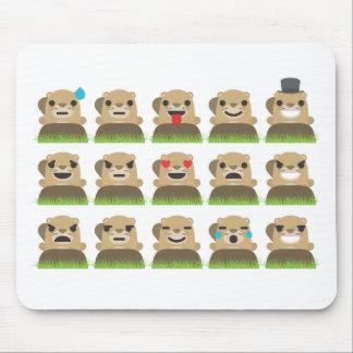 emojis de groundhog tapis de souris