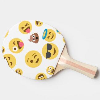 Emojis souriant fol raquette de ping pong