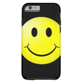 émoticône de smiley de jaune de la culture pop 80s coque tough iPhone 6