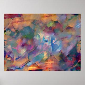 Émotions contradictoires - peinture d'art abstrait affiches